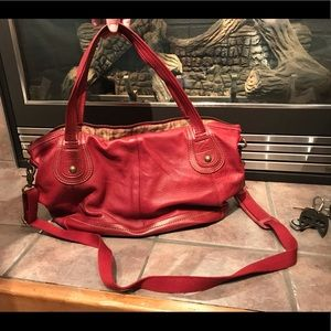The Sak Red Pebbled Leather Purse